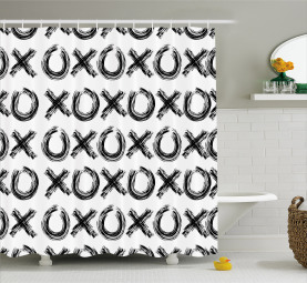Motivational Quote Letters Shower Curtain