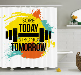 Artistic Colorful Quote Shower Curtain