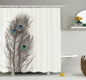 Federn des exotischen Vogels Duschvorhang