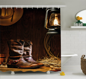 Western Riding Tools Shoe Shower Curtain