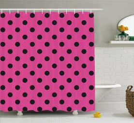Pop Art Inspired Dots Shower Curtain