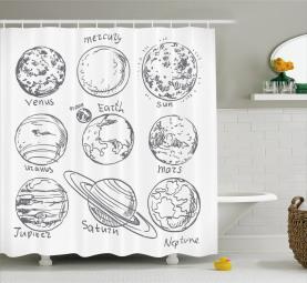 Solar System Mercury Shower Curtain