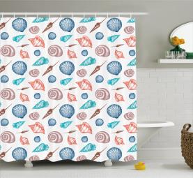 Seashells Marine Elements Shower Curtain