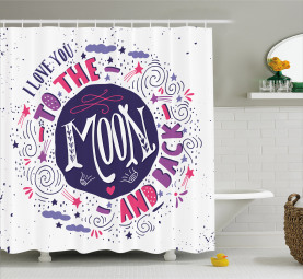 Sweet Colorful Love Shower Curtain