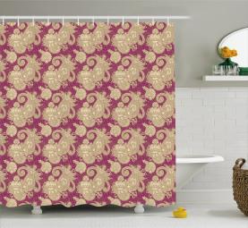 Nahöstliches Blumenblatt Duschvorhang