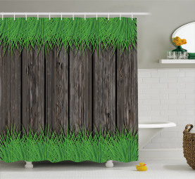 Wooden Planks Shower Curtain