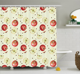Seeds of Winter Fruits Shower Curtain