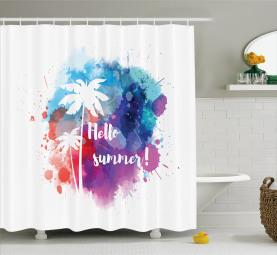 Summer Jungle Palm Trees Shower Curtain
