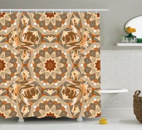 Arabic Floral Shower Curtain