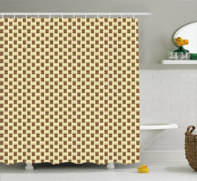 Take Away Cups Pattern Shower Curtain