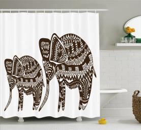 Ornamental Elefant heilig Duschvorhang