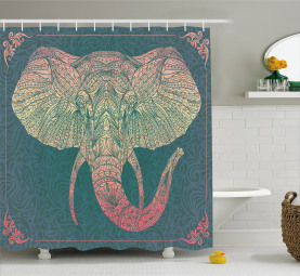 South East Asia Animal Shower Curtain