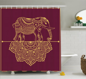African Animal Mandala Shower Curtain