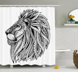Ethnic Wild Safari Animal Shower Curtain