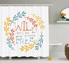 Freedom Boho Wreath Shower Curtain