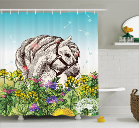 Grazing Animal on Meadow Shower Curtain
