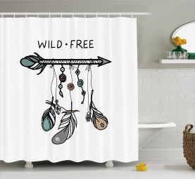Indigenous Feathers Shower Curtain