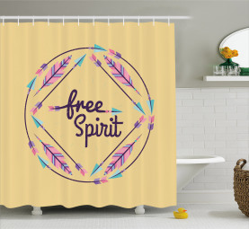 Free Spirit Colorful Shower Curtain