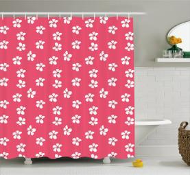 Hibiskusblüten Duschvorhang