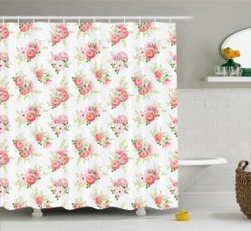 A Delicate Rose Bouquet Shower Curtain