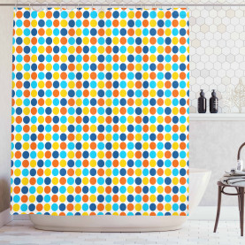 Geometric Retro Style Shower Curtain