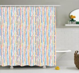 Bunte Streifen-Linien Duschvorhang