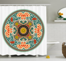 Plate Design Shower Curtain