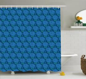 Blue Hydrangea Blossom Shower Curtain