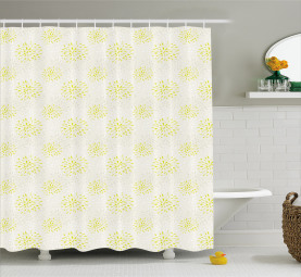 Chrysanthemum and Dahlia Shower Curtain