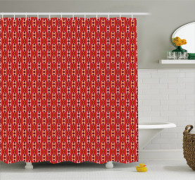 Tribal Inspired Pattern Shower Curtain