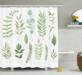 Greenery Herbs Concept Shower Curtain