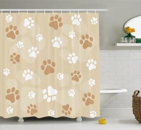 Baby Hund Pet Pfoten Duschvorhang