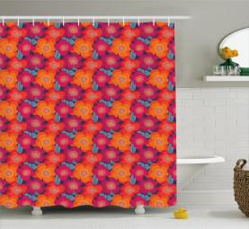 Vivid Tropical Flower Shower Curtain