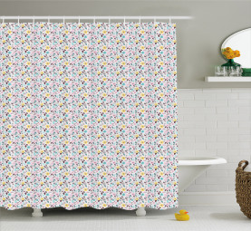 Leafless Pansies Shower Curtain