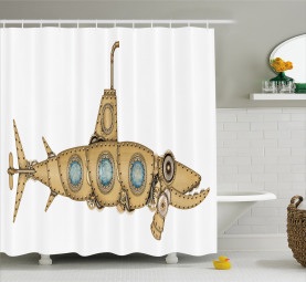 Barracuda Submarine Shower Curtain