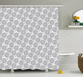 Radially Expanding Seeds Shower Curtain