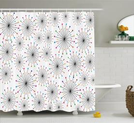Blowball Flower Spikes Shower Curtain