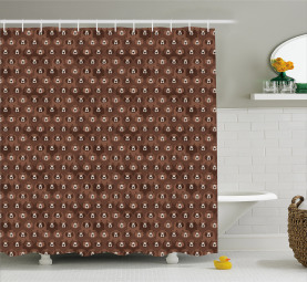 Flock of Big Angry Bears Shower Curtain