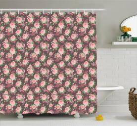 Bridal Romantic Posy Shower Curtain