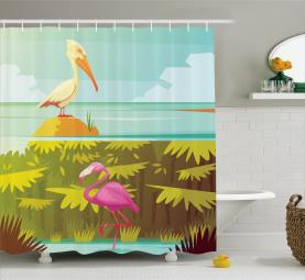 Tropical Rainforest Fauna Shower Curtain