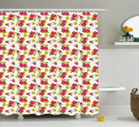 Colorful Fresh Wildflowers Shower Curtain