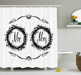 Ornate Floral Wreaths Shower Curtain