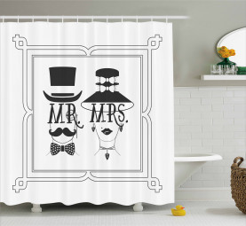 Male and Female Concept Shower Curtain