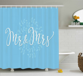 Romantic Wedding Design Shower Curtain
