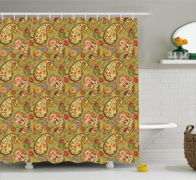 Colorful Persian Style Shower Curtain