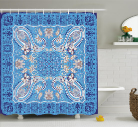 Classic Ancient Floral Shower Curtain
