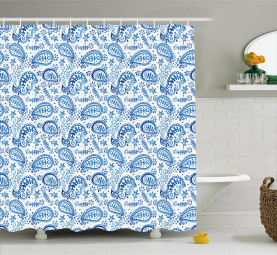 Ikat Style Watercolor Shower Curtain
