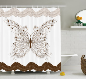 Abstract Retro Spring Shower Curtain
