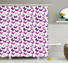 Butterfly Carved Wing Shower Curtain