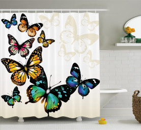 Monarch Shades Ombre Shower Curtain